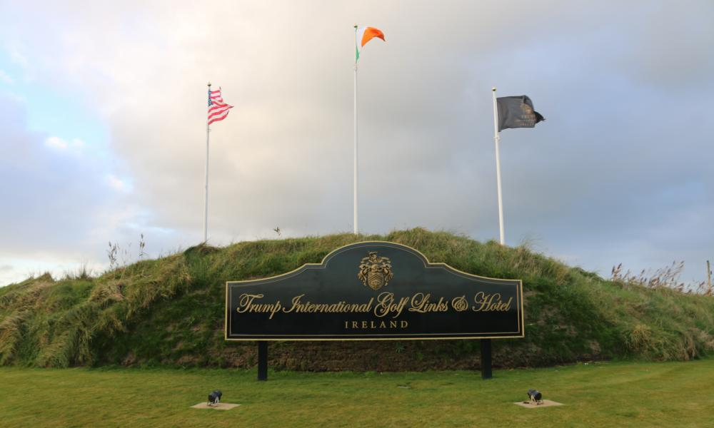 Trump has boasted about purchasing the golf resort in Doonbeg during an economic downturn in Ireland and has called the investment 'small potatoes'.