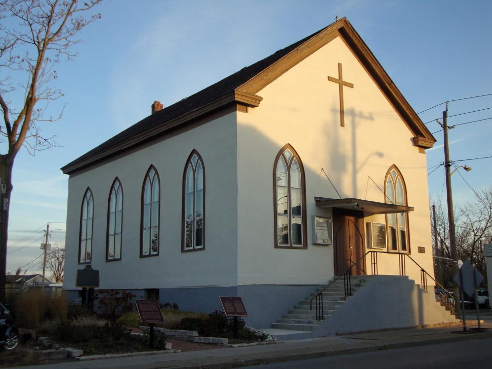 The Salem Chapel British Methodist Episcopal Church in St Catharines, Ontario.