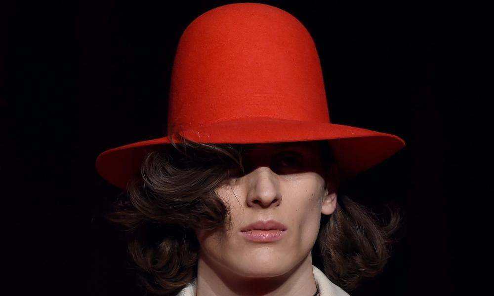 A ten-gallon hat by Gucci at Milan's fashion week