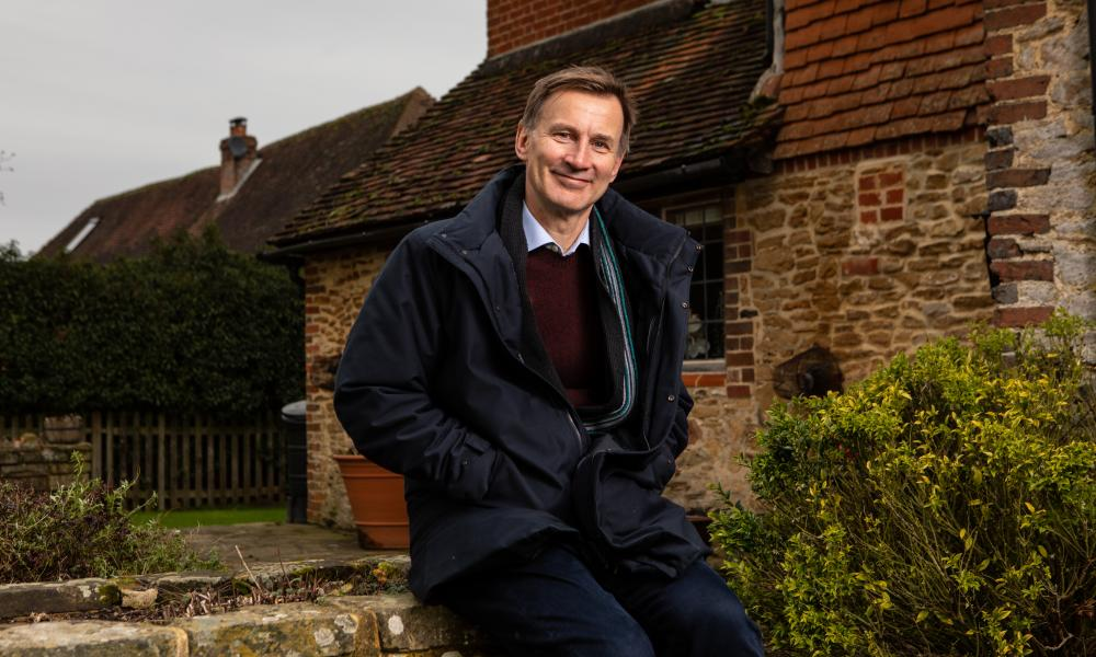 Jeremy Hunt said the 'game has changed massively' with the new Covid variants. Photograph: Antonio Olmos/The Observer