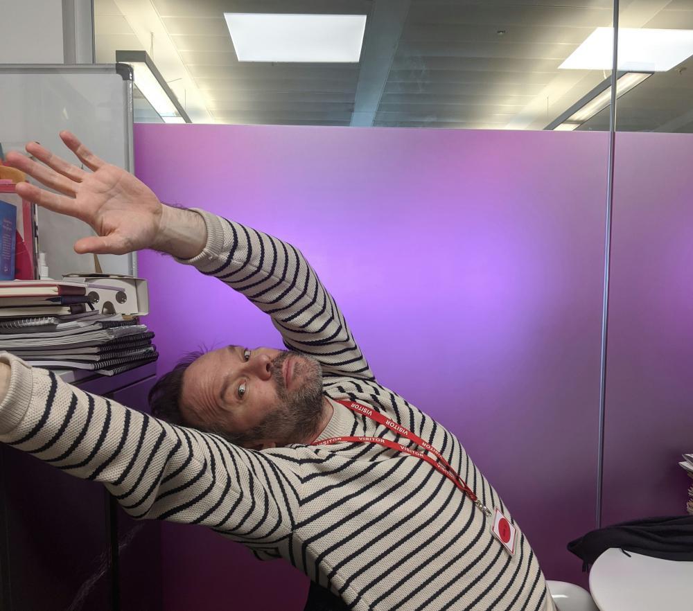 Nigel is in the office …