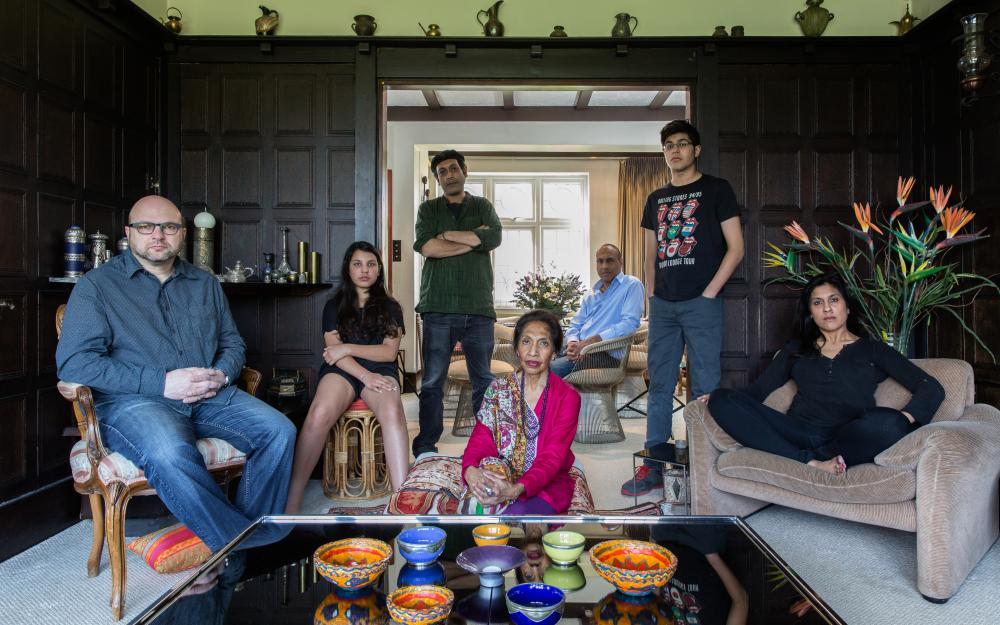 Simone, from Bangladesh, with her husband Andrew, children Maya and Misha, mother Runi and brothers Kishon and Chamoun