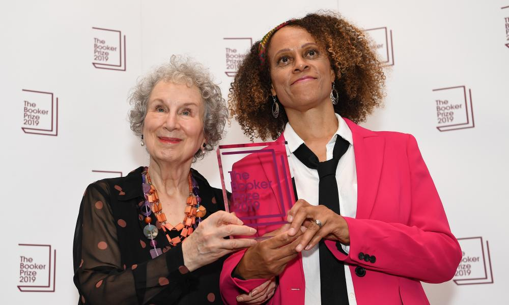 Margaret Atwood, left, and Bernardine Evaristo, joint winners of the 2019 Booker prize.