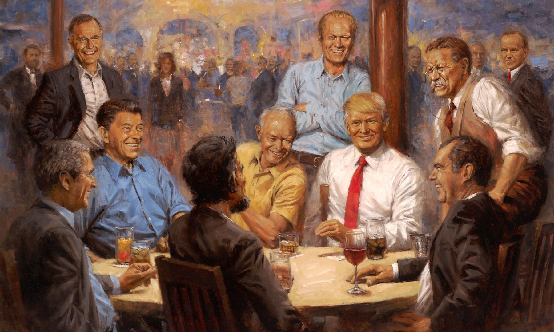 Artist 'astounded' to see his Trump painting hung in the White House
