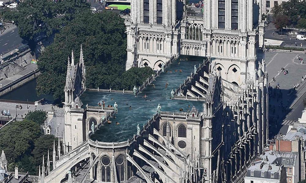 Rooftop pool? Notre Dame proposals defy traditionalists