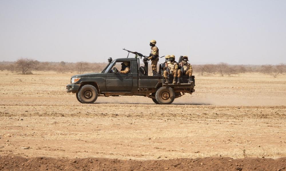 Soldiers patrolling in Burkina Faso