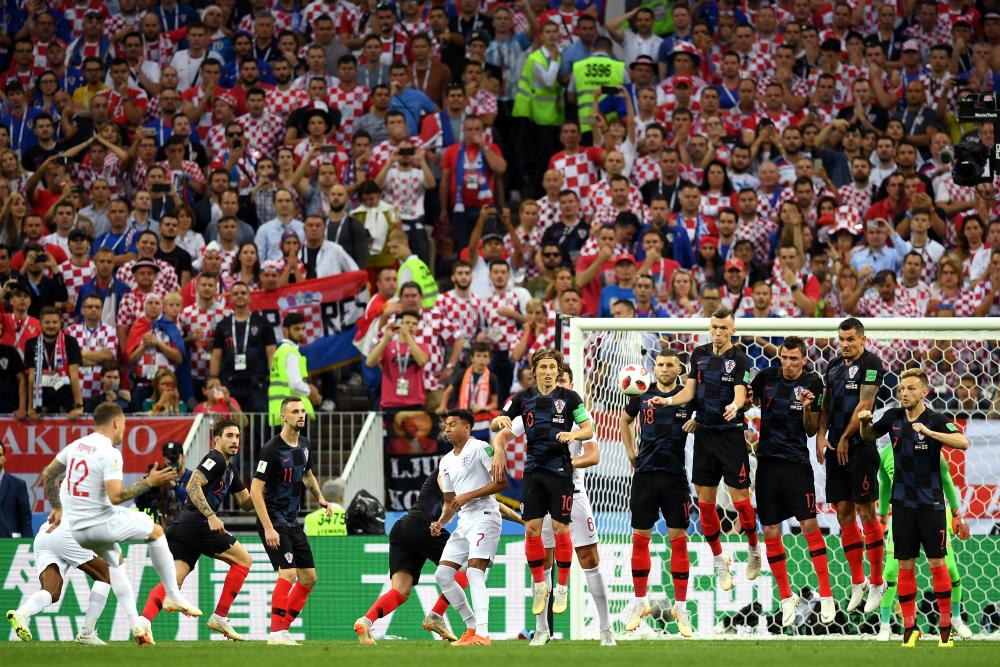 Kieran Trippier's free-kick against Croatia.