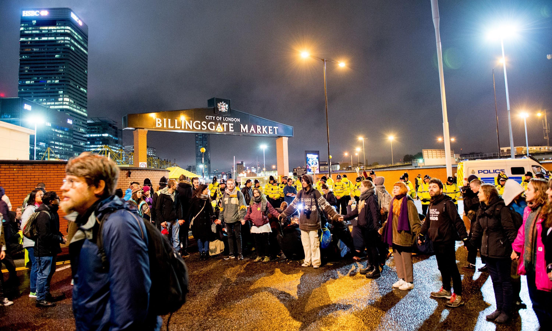 Extinction Rebellion arrests near 1,300 after Billingsgate protest