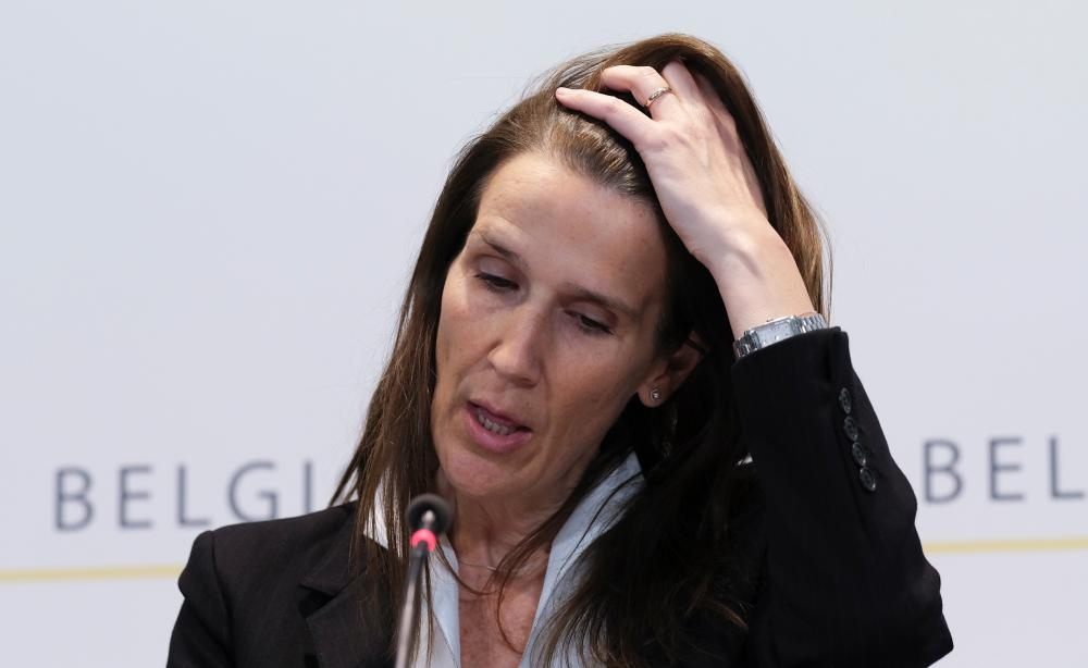 Sophie Wilmès, Belgium's foreign minister, who is in intensive care with Covid-19.
