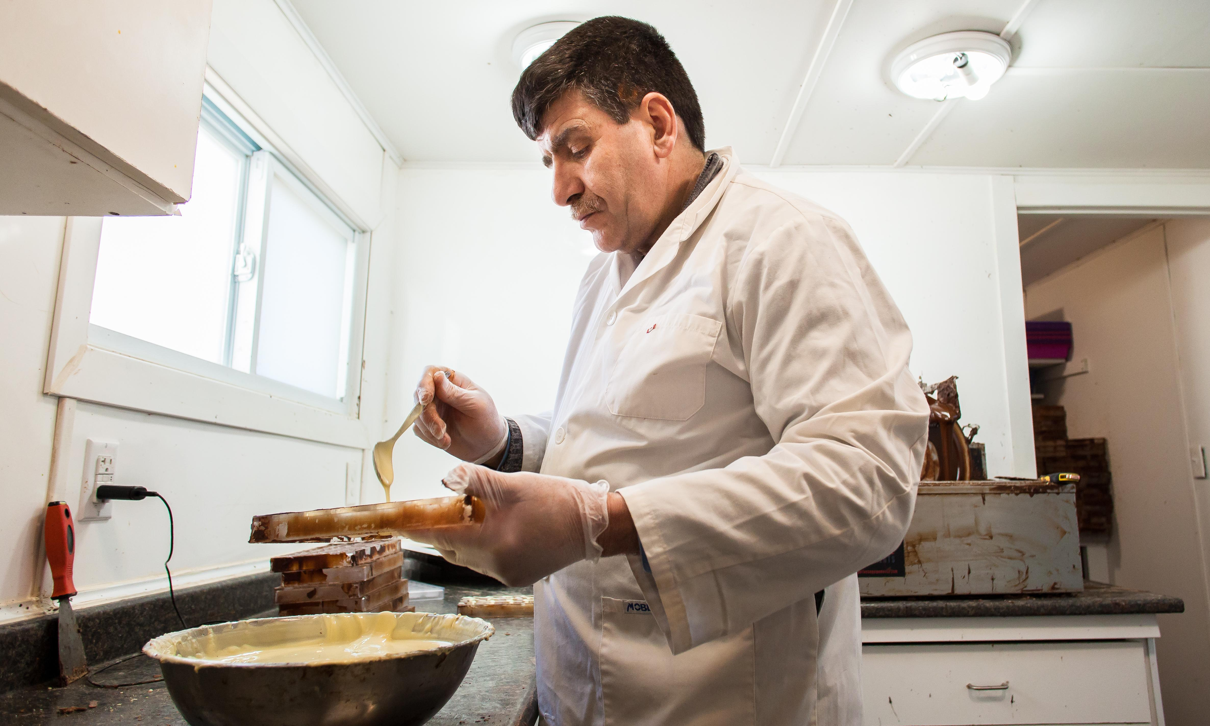 Isam and the chocolate factory: Syrian refugees relaunch family business in Canada