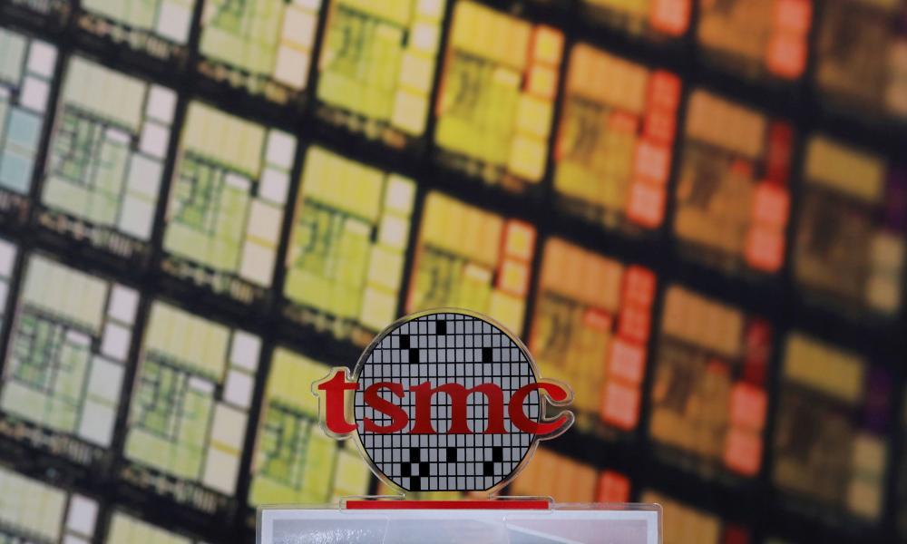 A logo of Taiwan Semiconductor Manufacturing Co (TSMC)