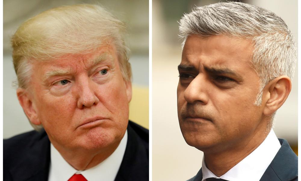 Donald Trump and Mayor of London Sadiq Khan.