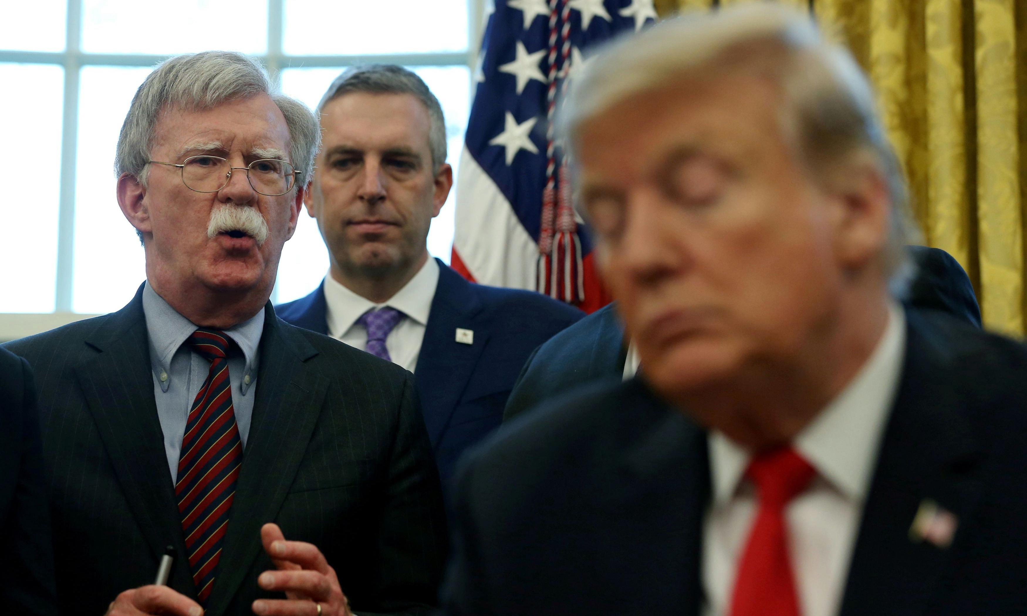 Trump linked Ukraine aid to Biden inquiry, Bolton book draft says – report