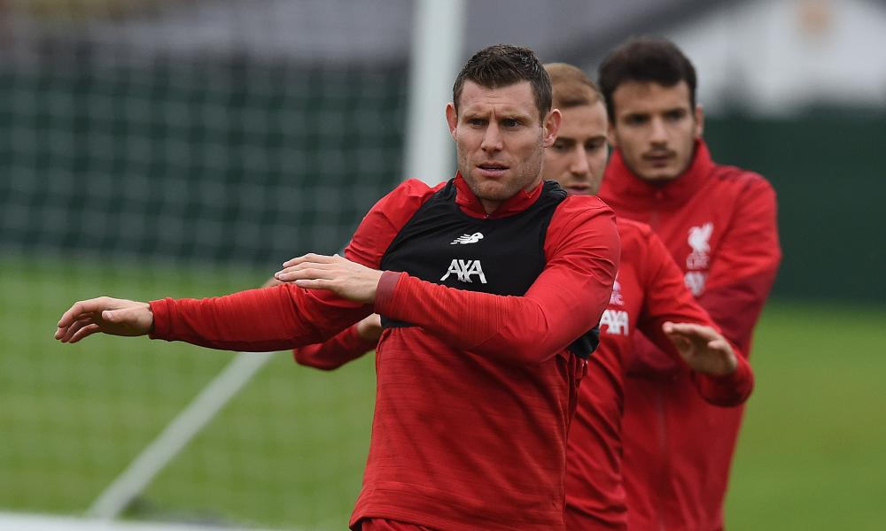 Lijnders has developed training drills to help players match the intensity of James Milner