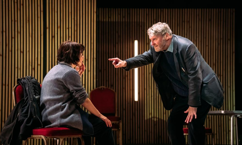 Thrillingly splenetic … Hannah Donaldson and Neil McKinven in The Enemy.
