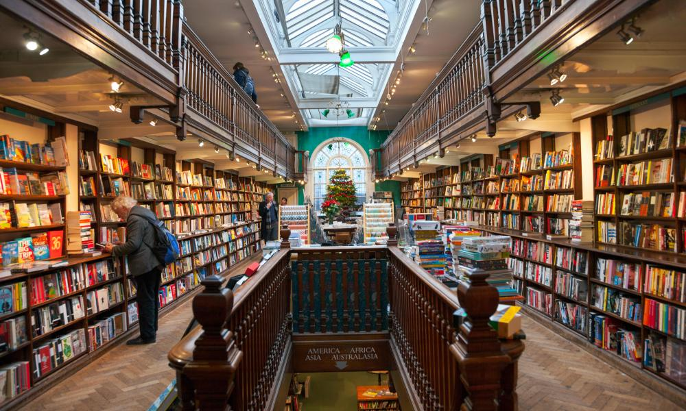 Daunt Books travel bookshop in London.