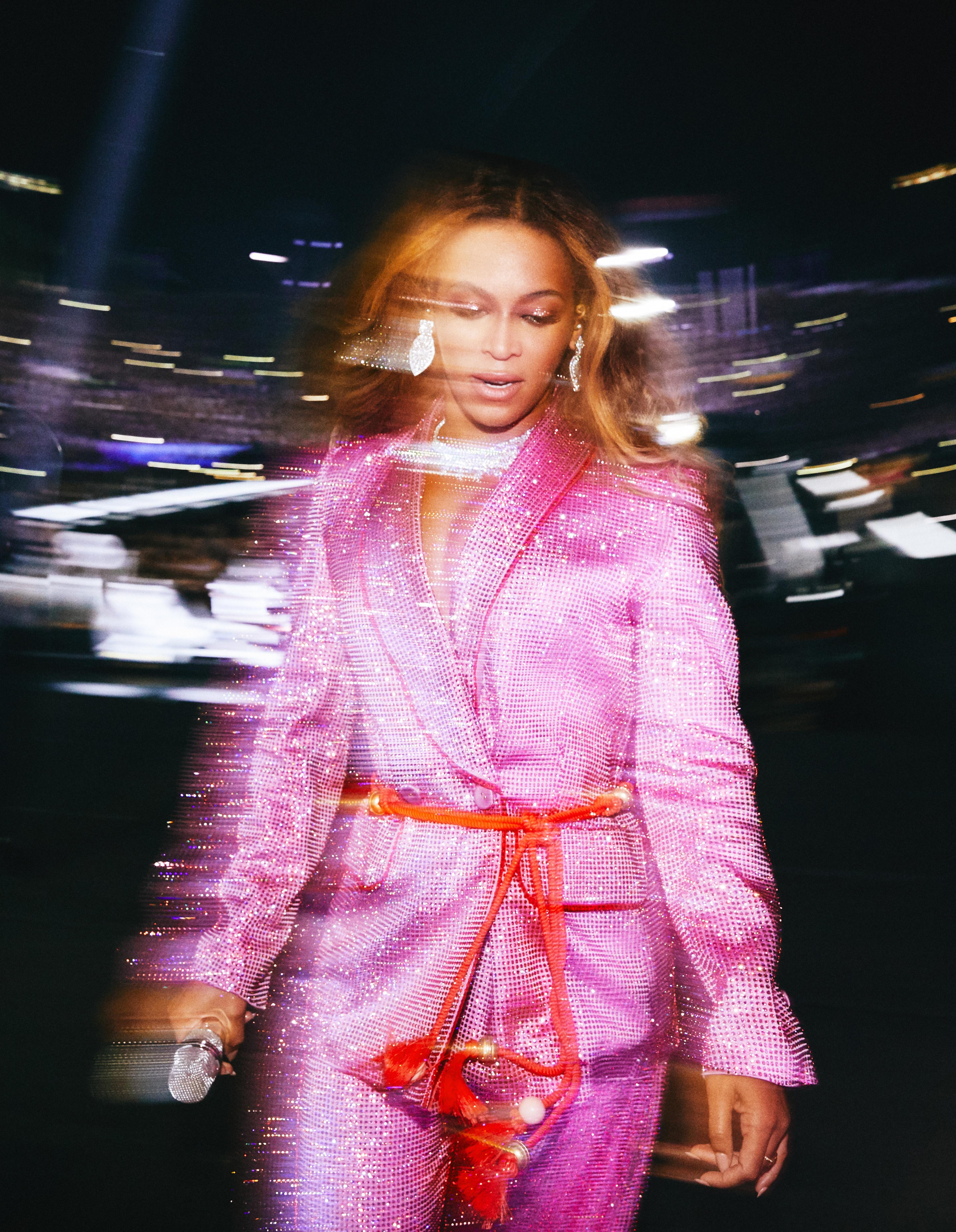 Andrew White's best photograph: Beyoncé exits the stage glimmering