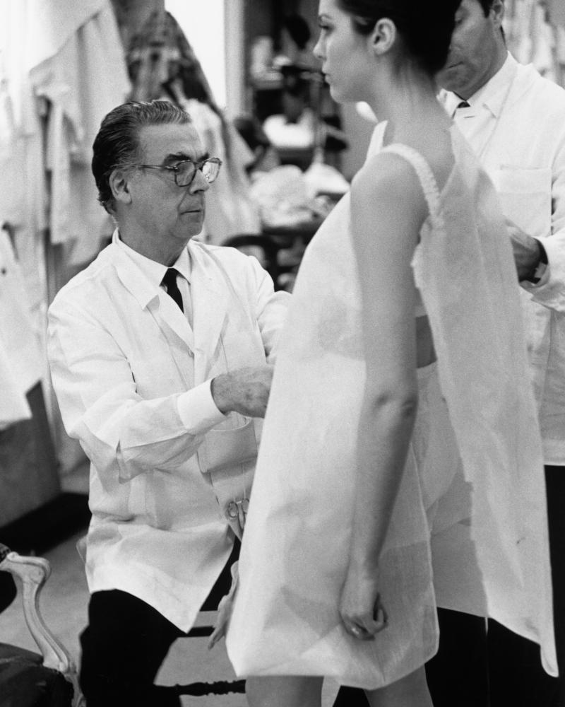 Cristóbal Balenciaga at work in Paris, 1968