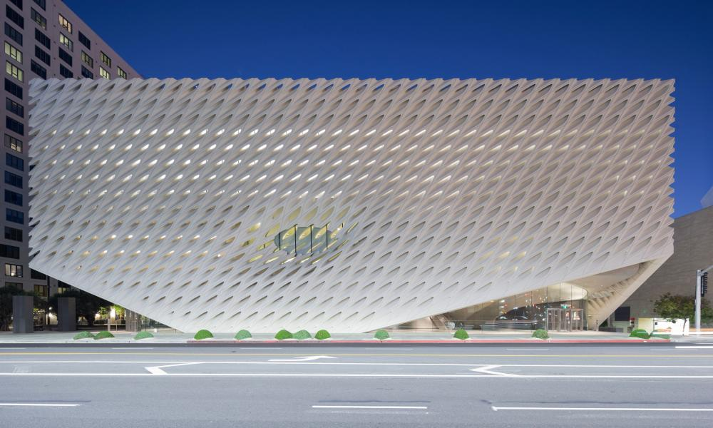 Coral-like facade … the Broad art museum in Los Angeles.