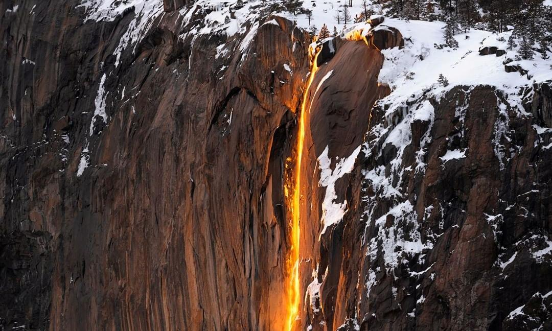 'It's a photo orgy': is Yosemite's rare firefall too beautiful for its own good?