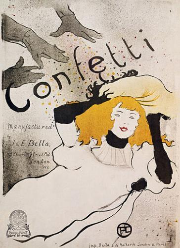 Confetti at the Toulouse Lautrec Museum, Albi, where the artist was born.