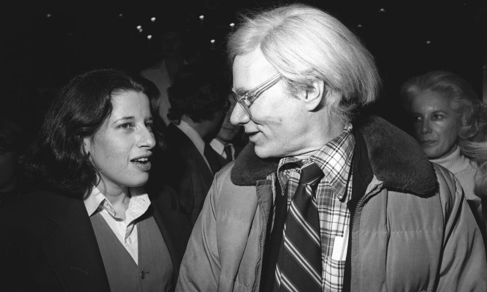 Lebowitz with Andy Warhol In New York, in 1977, when she wrote for his Interview magazine.