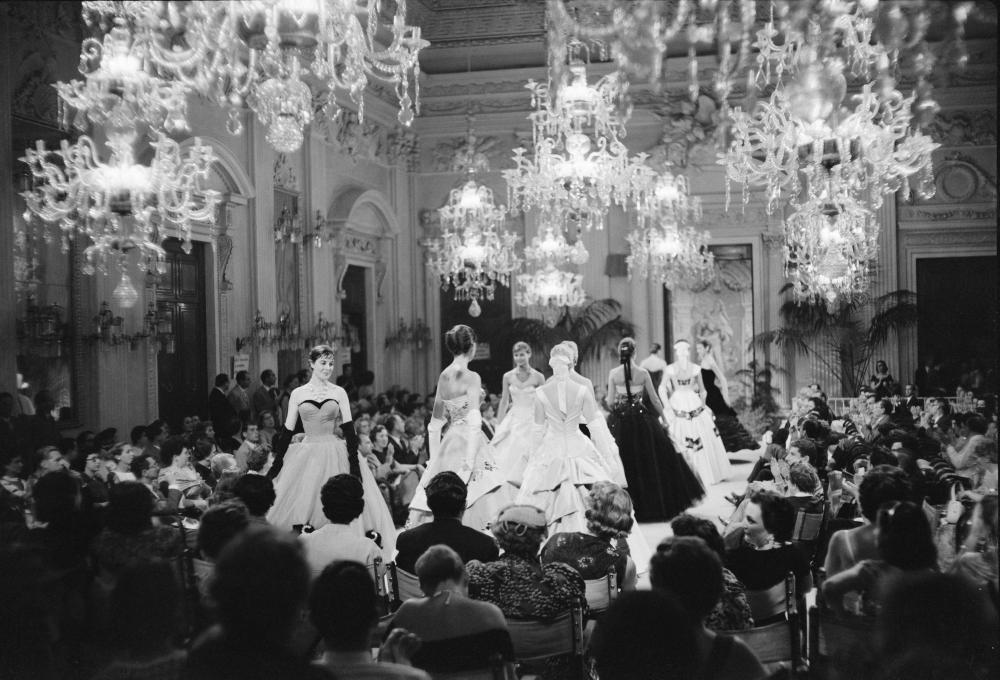 Giovanni Battista Giorgini fashion show in the Sala Bianca in Florence