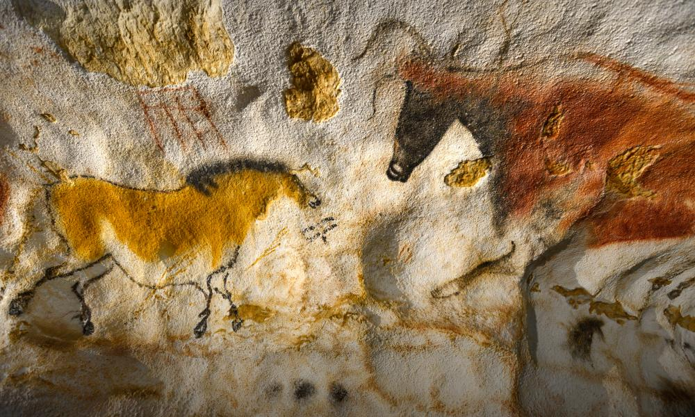 Were the Lascaux cave paintings in France created by minds like ours?