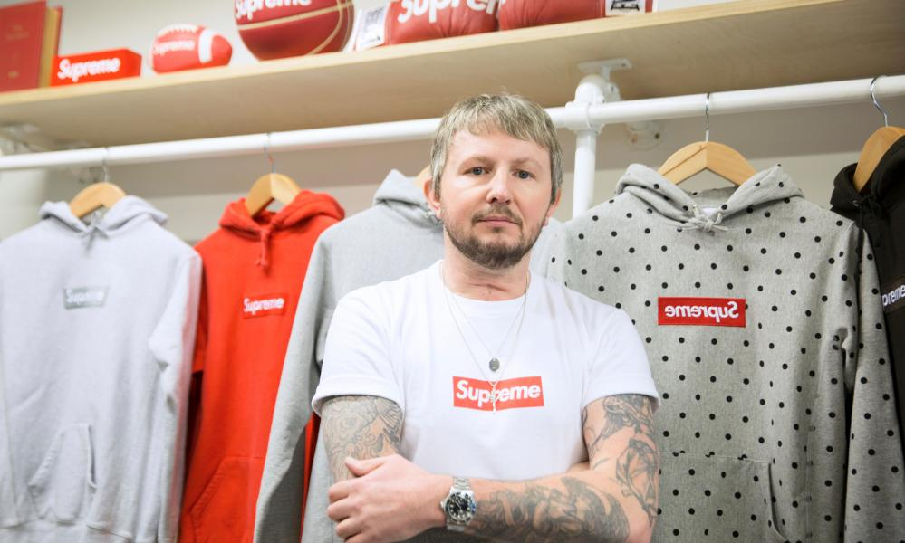 Ross Wilson and his Supreme collection.