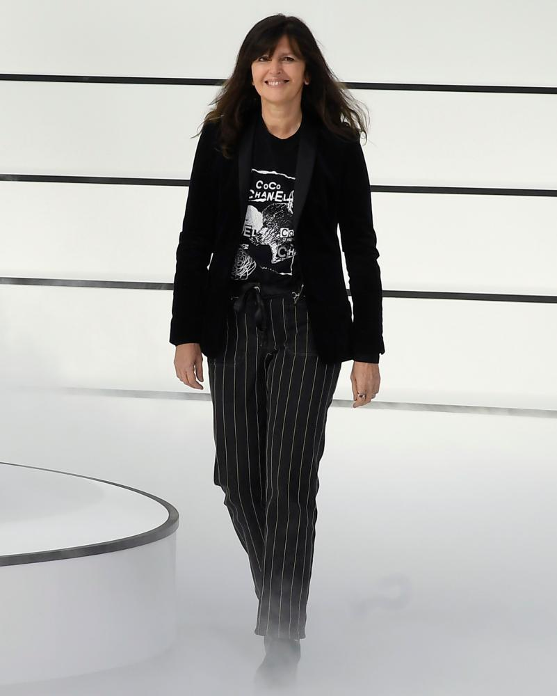 Designer Virginie Viard at the Chanel show.