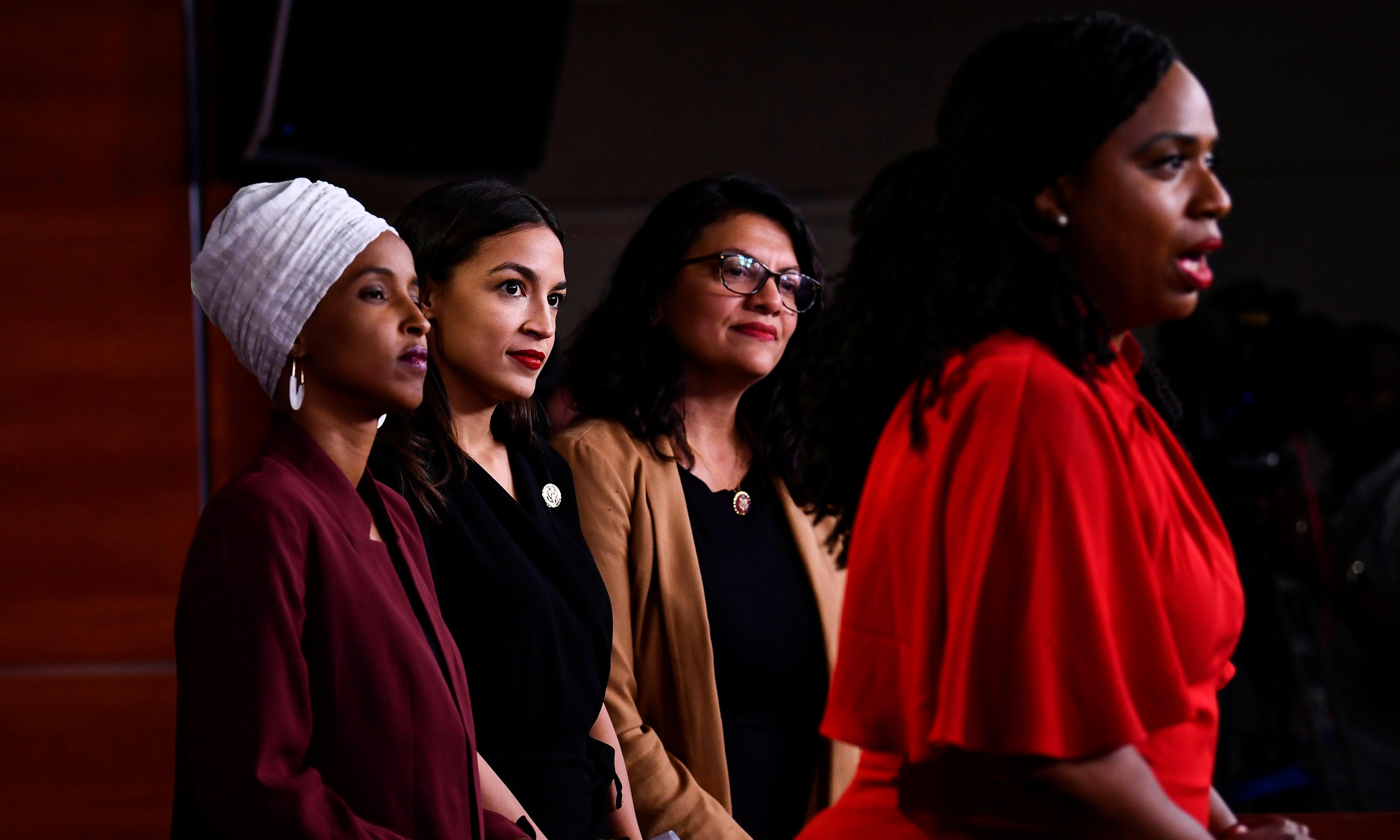 'Do not take the bait': congresswomen denounce racist Trump attack