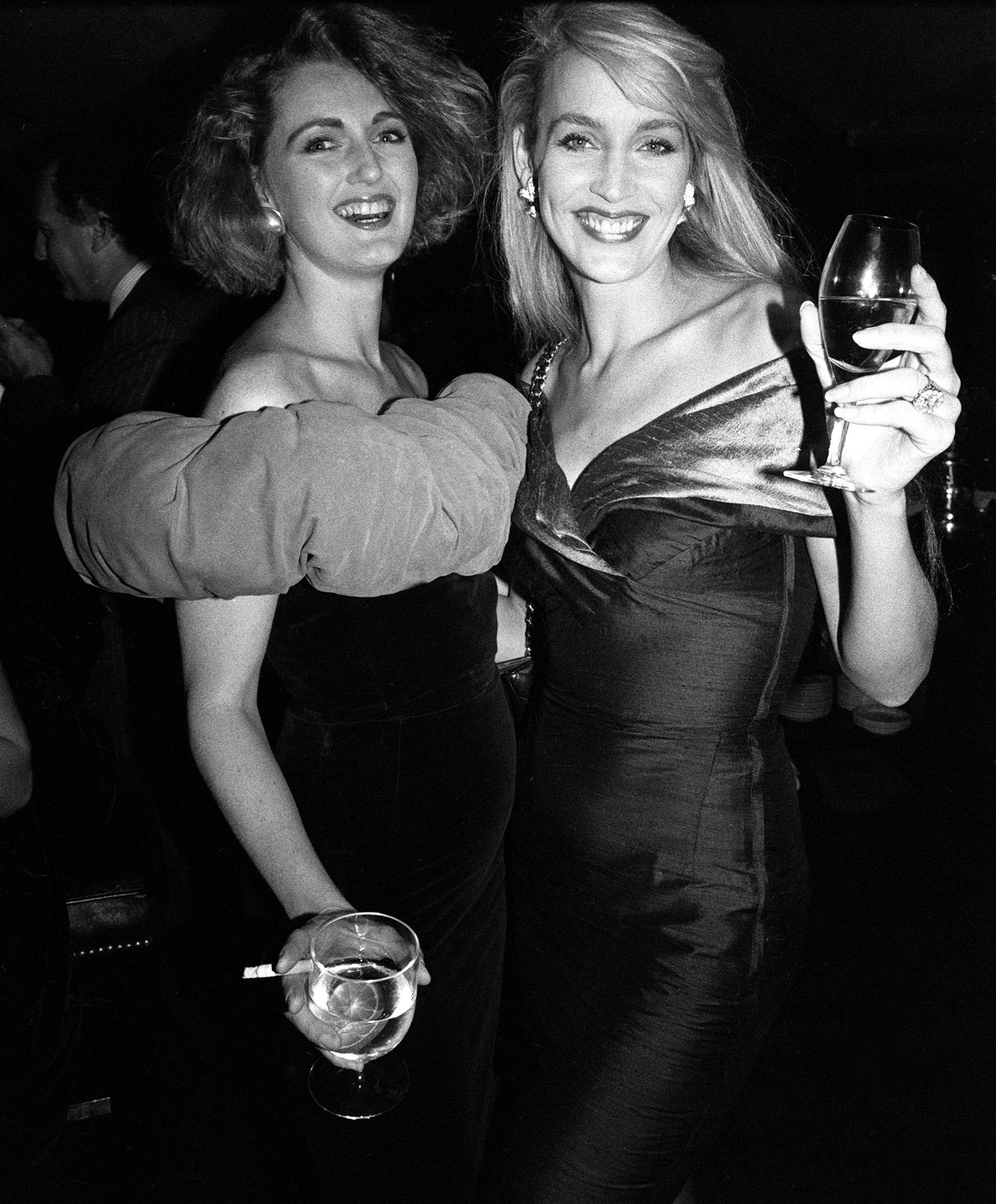 Richard Young's best photograph: Jerry Hall parties at Annabel's