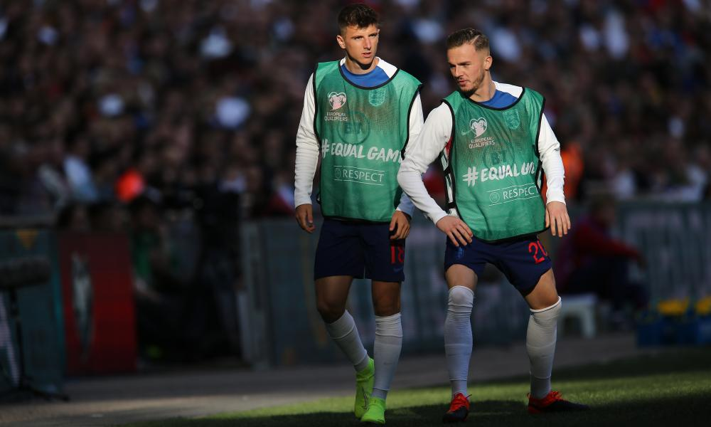 Mason Mount (left) and James Maddison are contenders for an attacking midfield role who have started the season impressively.