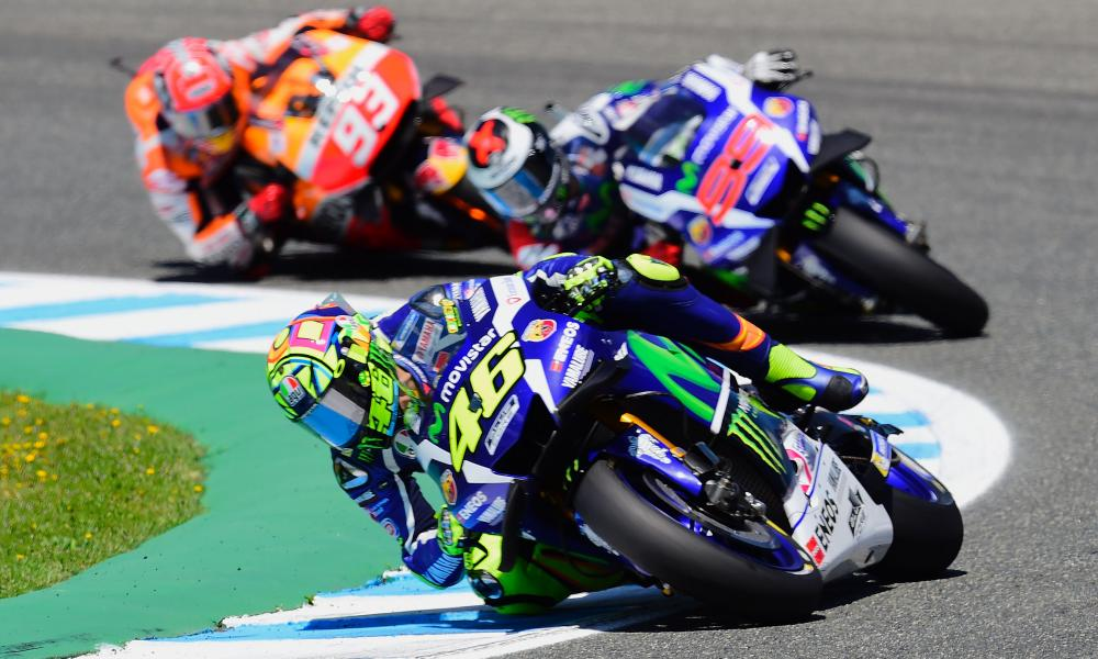 MotoGP riders including Valentino Rossi (No46) head to Jerez for the Spanish Grand Prix in May.