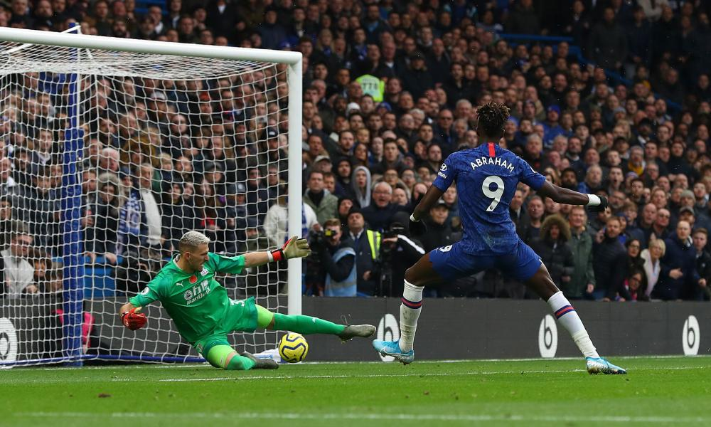 Tammy Abraham opens the scoring at Stamford Bridge.