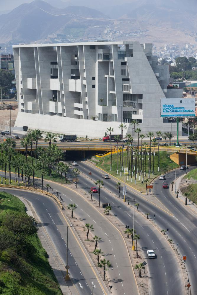 'Unashamedly dramatic': Grafton Architects' 2015 university campus for UTEC in Lima, Peru.