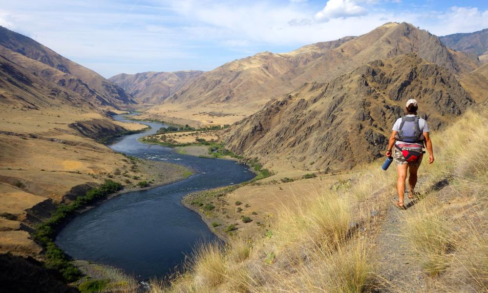 Writer Mary Caperton Morton on a solo hike on the land surrounding Hells Canyon, US