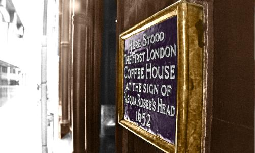 London's first coffee shop.