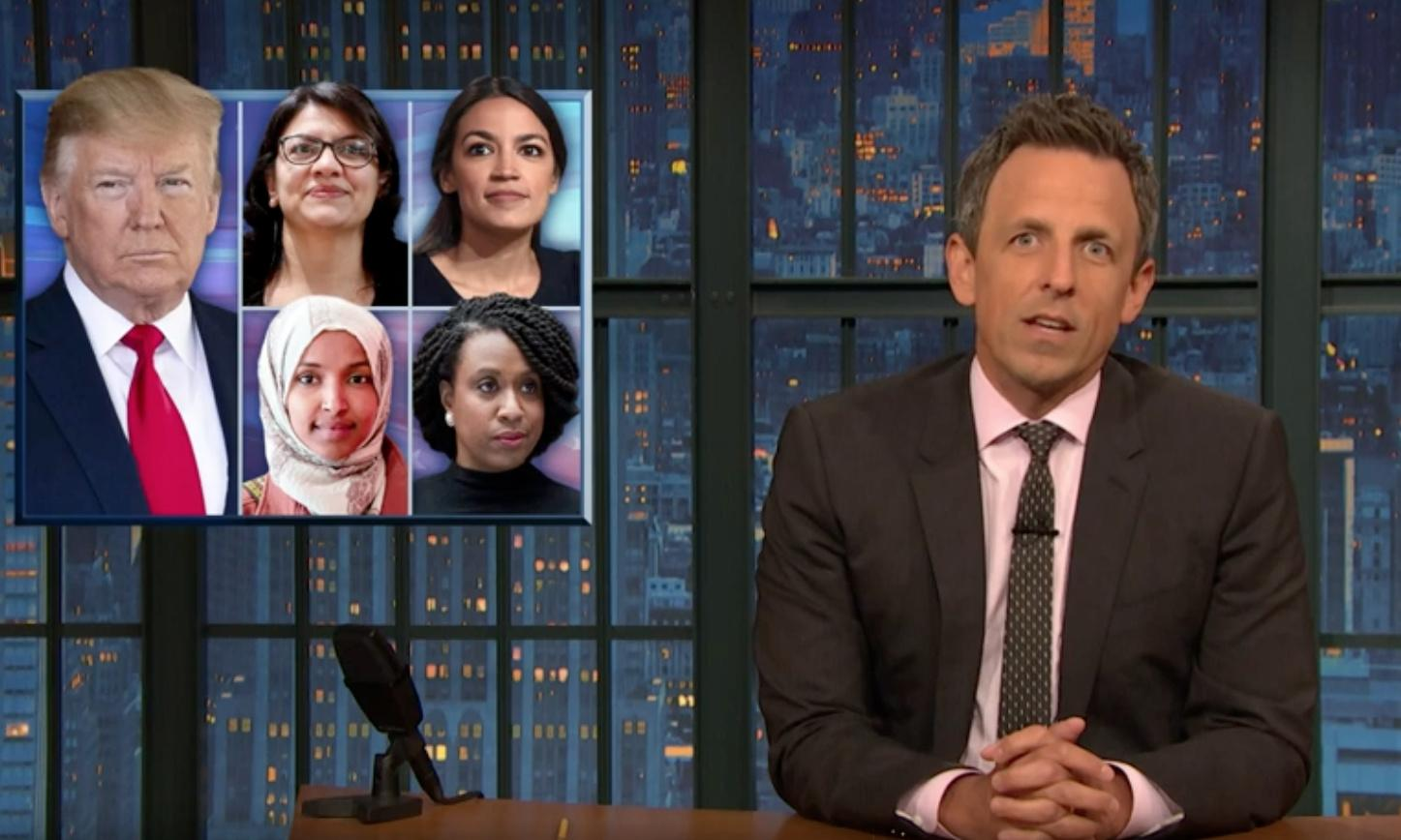 Seth Meyers to Trump: 'If their country is crime-infested then that's on you'
