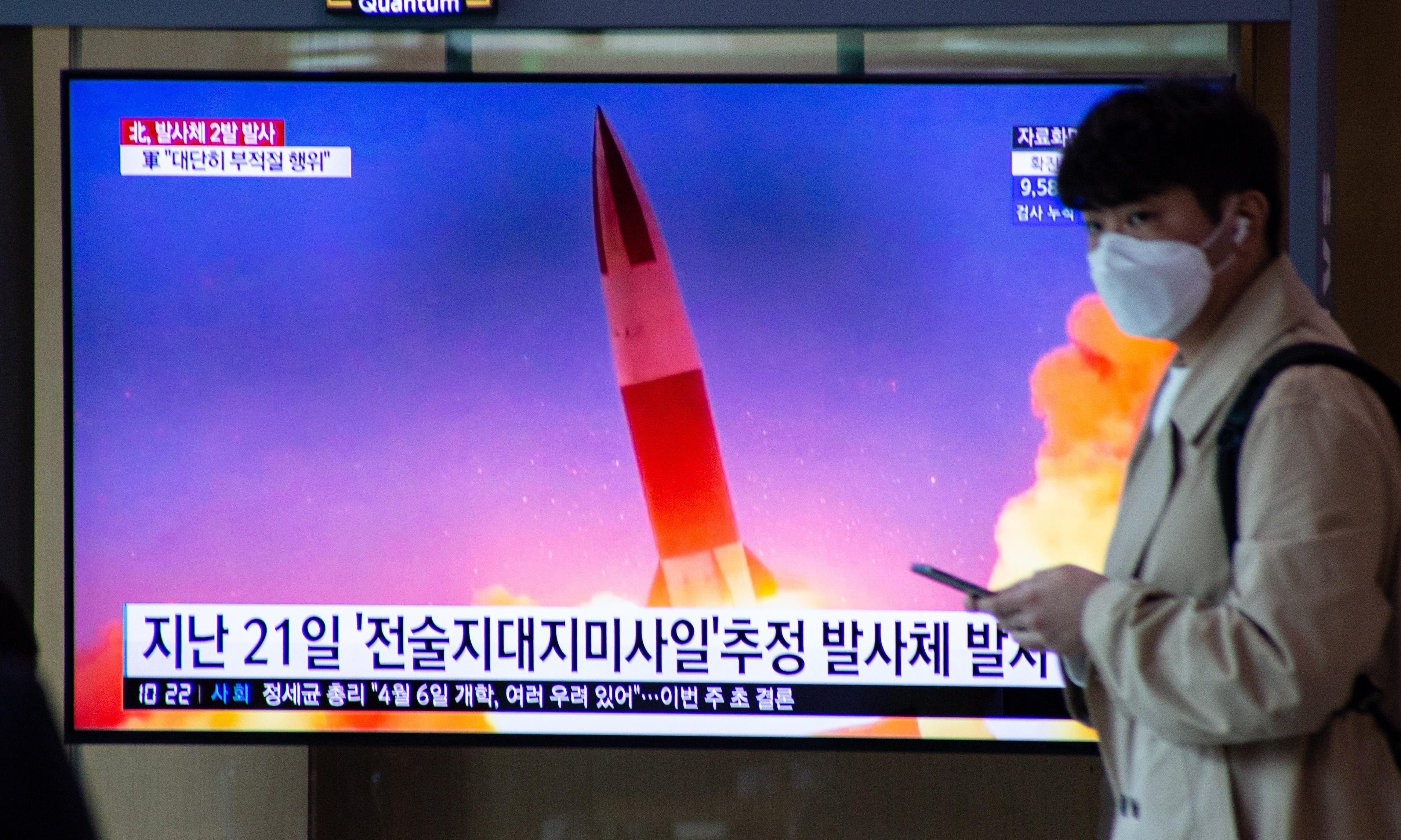 North Korea fires two missiles as Seoul condemns 'inappropriate' timing