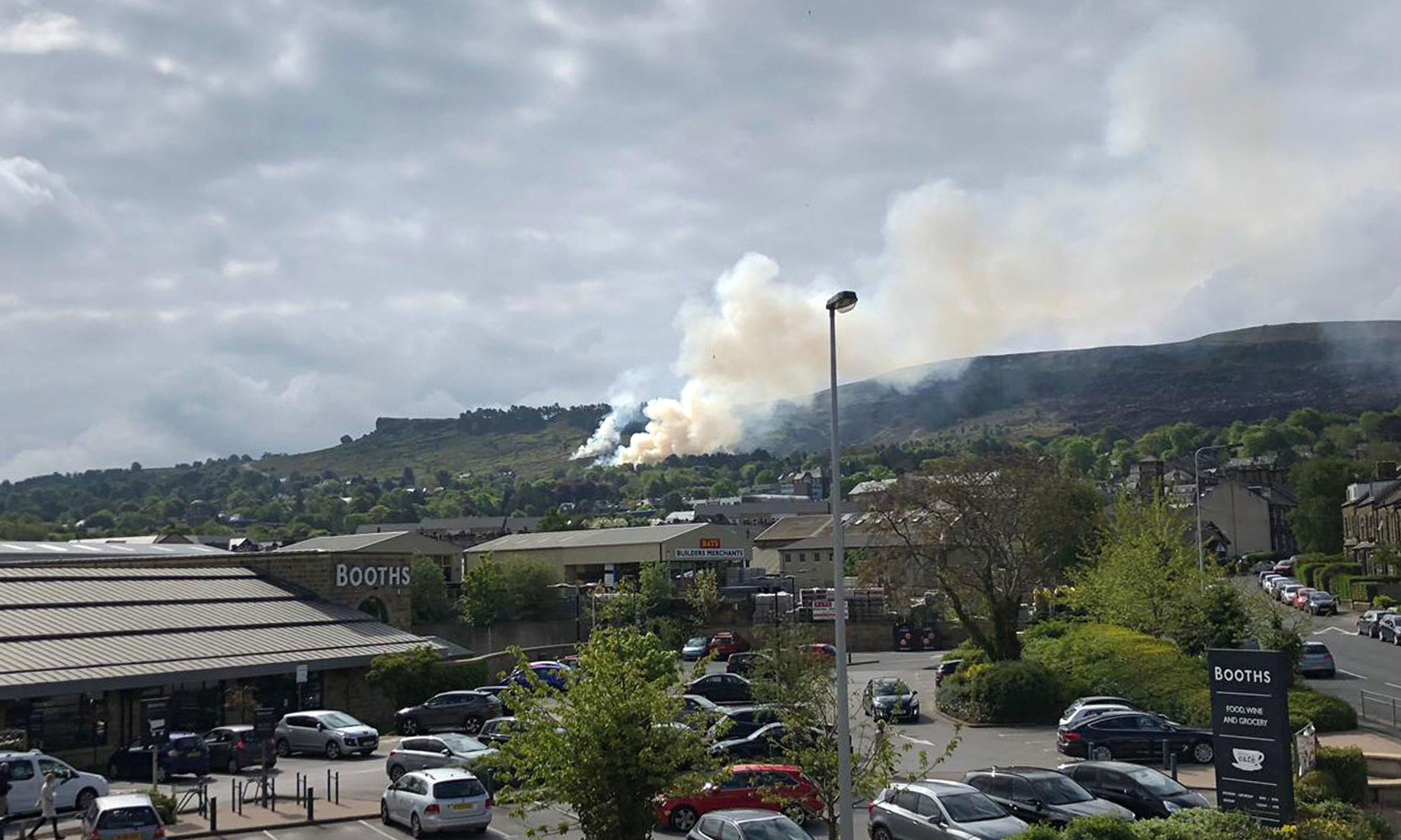 Woman arrested over fire on West Yorkshire moor