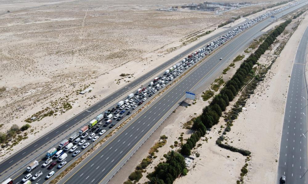 The E11 highway, between Dubai and Abu Dhabi