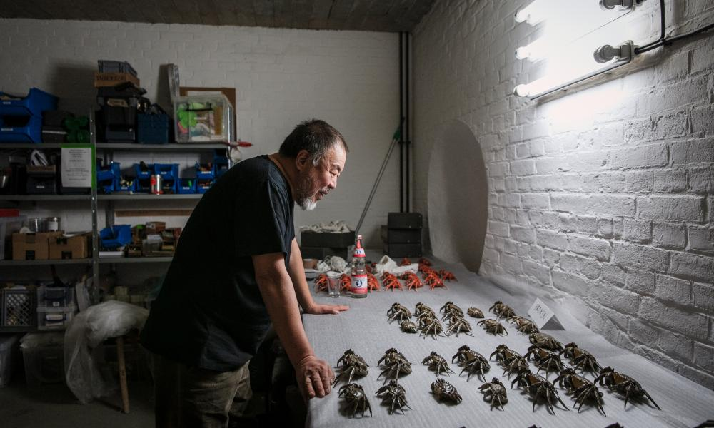 Ai Weiwei in his Berlin studio.
