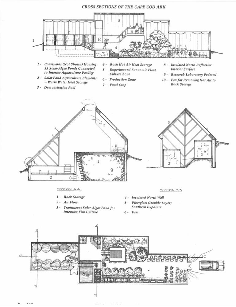 """Plans for the ark, which we would recognise today as a show-home for """"off-grid"""" living, employing sustainable design principles."""