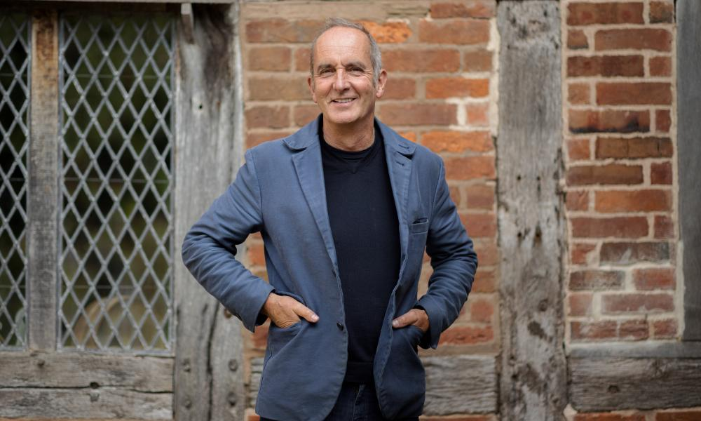 Kevin McCloud at the Brockhampton estate owned by the National Trust in Herefordshire.