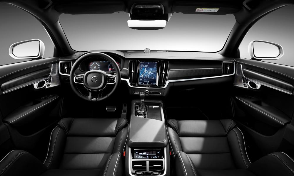 Dark knight: the sumptuous Volvo S90 R-Design interior