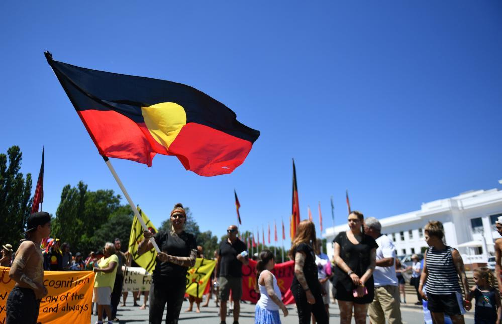 Invasion Day rally in Canberra