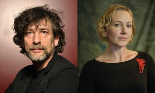 Neil Gaiman and Elise Hurst