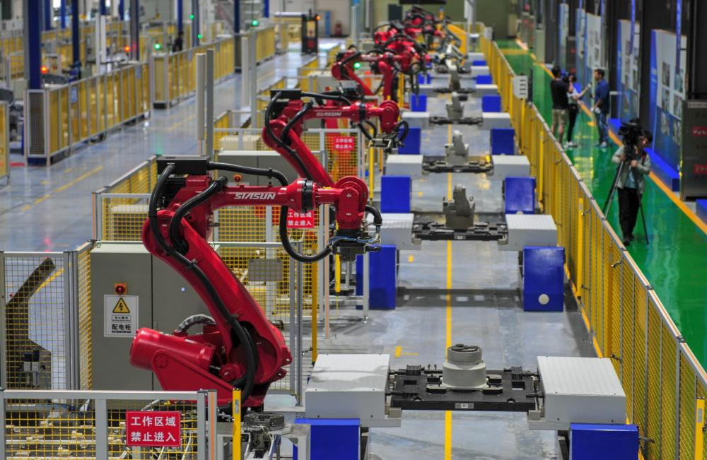 Robots are here to stay … an automated production line in China.