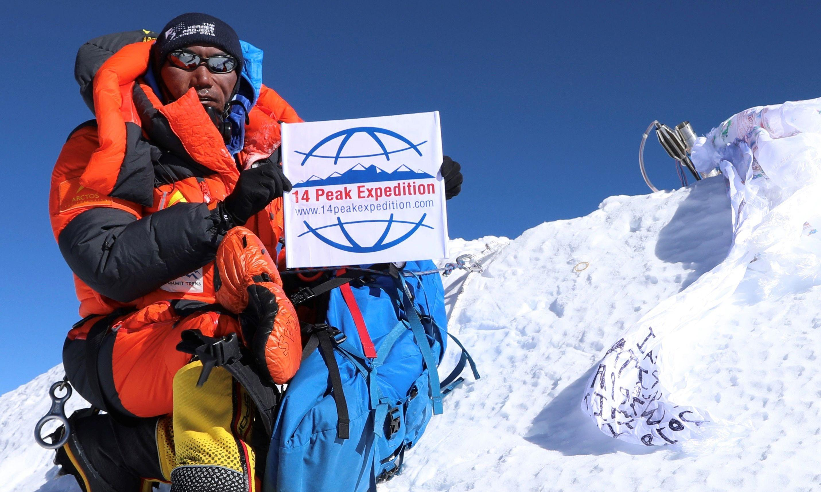 Nepalese climber scales Everest record 24 times – with one more to go